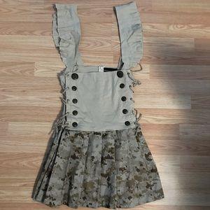 Underbust Suspender Skirt Sz M-L, OOAK